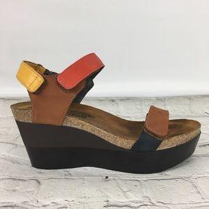 NAOT Miracle Wedge Platform Sandal Sz 6 (39)
